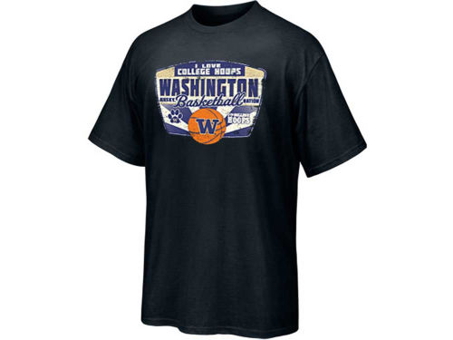 Washington Huskies Blue 84 NCAA Love Hoops T-Shirt
