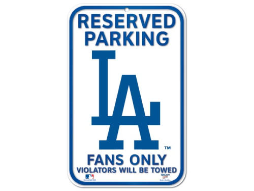 Los Angeles Dodgers Wincraft Reserved Parking Sign