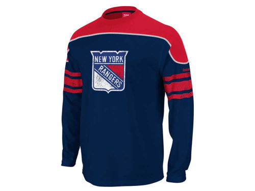 New York Rangers Outerstuff NHL Youth Long Sleeve Shootout T-Shirt