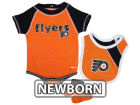 Philadelphia Flyers Outerstuff NHL Newborn Bodysuit Bib And Bootie Infant Apparel