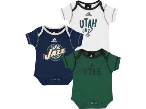 Utah Jazz Outerstuff NBA Infant 3pc Bodysuit Set