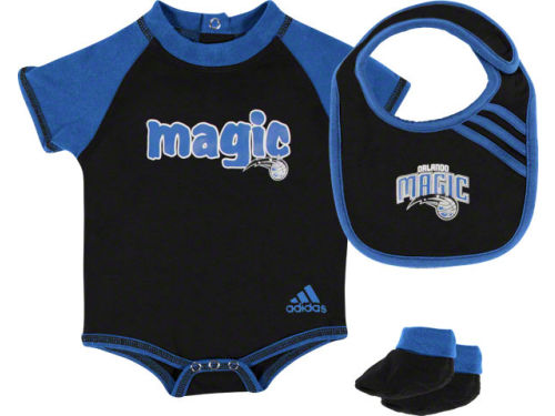 Orlando Magic Outerstuff NBA Newborn Bodysuit Bib Bootie Set