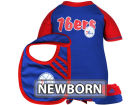 Philadelphia 76ers Outerstuff NBA Newborn Bodysuit Bib Bootie Set Infant Apparel