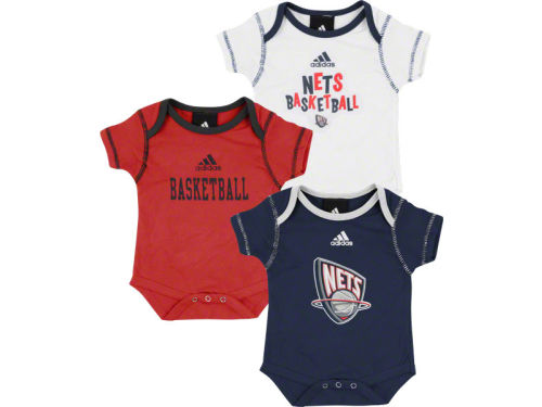 New Jersey Nets Outerstuff NBA Newborn 3pc Bodysuit Set