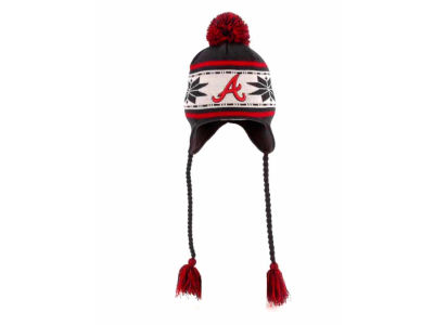 Atlanta Braves MLB Striped Snowflake Knit Hats