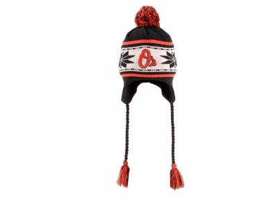 Baltimore Orioles MLB Striped Snowflake Knit Hats
