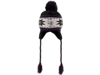Colorado Rockies MLB Striped Snowflake Knit Hats