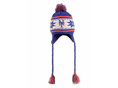 New York Mets MLB Striped Snowflake Knit Hats