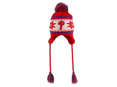Philadelphia Phillies MLB Striped Snowflake Knit Hats