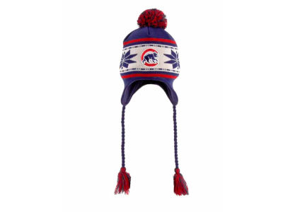 Chicago Cubs MLB Jr Striped Snowflake Knit Hats