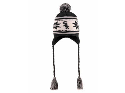 Chicago White Sox MLB Jr Striped Snowflake Knit Hats