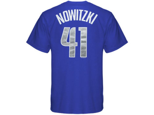 Dallas Mavericks Dirk Nowitzki Profile NBA Youth Name And Number T-Shirt