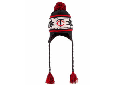 Minnesota Twins MLB Jr Striped Snowflake Knit Hats
