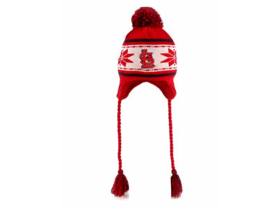 St. Louis Cardinals MLB Jr Striped Snowflake Knit Hats