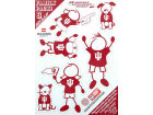 Indiana Hoosiers Family Decal 6pk Auto Accessories