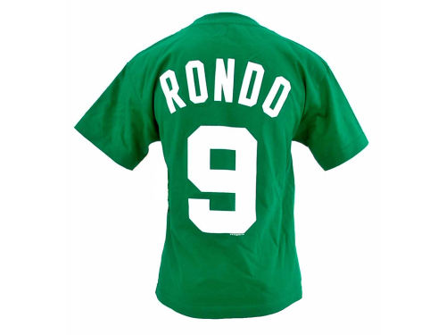 Boston Celtics Rajon Rondo Profile NBA Youth Name And Number T-Shirt
