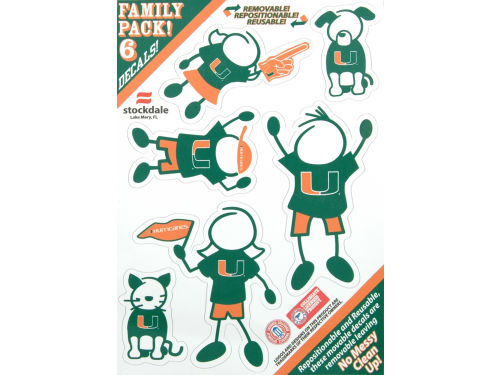 Miami Hurricanes Family Decal 6pk