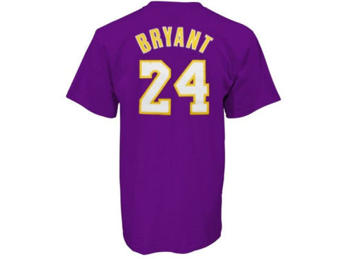 Los Angeles Lakers Kobe Bryant Profile NBA Youth Name And Number T-Shirt