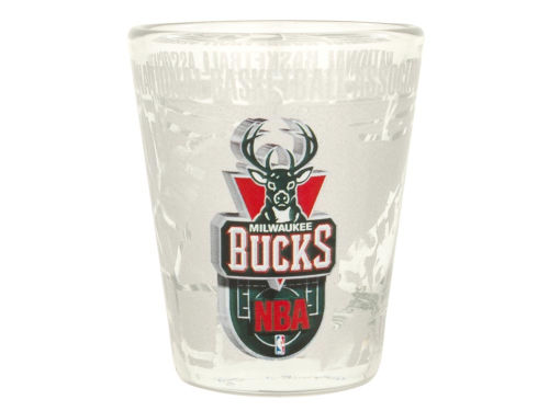 Milwaukee Bucks 3D Wrap Collector Glass