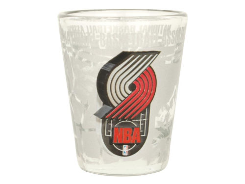 Portland Trail Blazers 3D Wrap Collector Glass