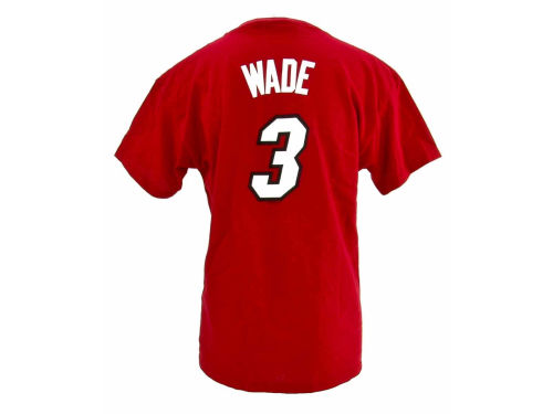 Miami Heat Dwyane Wade Profile NBA Youth Name And Number T-Shirt
