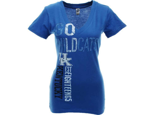 Kentucky Wildcats NCAA Womens Go Girl Vneck T-Shirt
