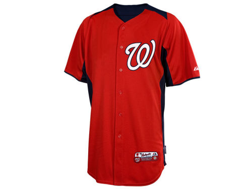 Washington Nationals Majestic MLB Cool Base Batting Practice Jersey