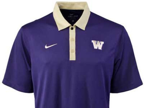 Washington Huskies Nike NCAA Practice Polo