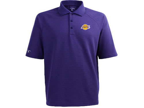 Los Angeles Lakers Antigua NBA Whisper Xtra-Lite Polo