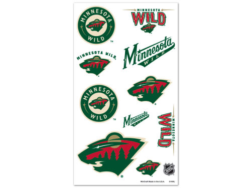 Minnesota Wild Wincraft Temporary Tattoos