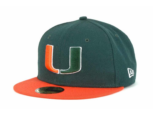 Miami Hurricanes New Era NCAA 2 Tone 59FIFTY Cap Hats