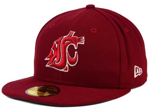 Washington State Cougars New Era NCAA AC 59FIFTY Cap Hats