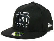 New Era NCAA Black on Black with White 59FIFTY Fitted Hats