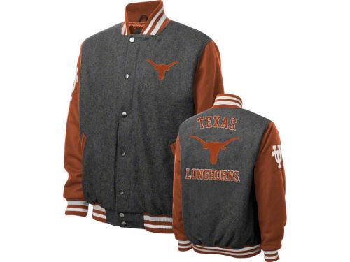 Texas Longhorns GIII NCAA Wool Varsity Jacket