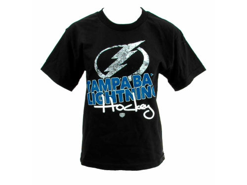 Tampa Bay Lightning Old Time Hockey NHL Youth Angler T-Shirt