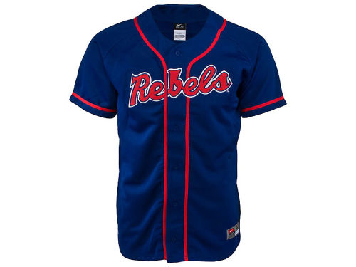 Mississippi Rebels Nike NCAA Youth Baseball Jersey