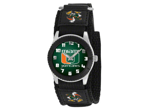 Miami Hurricanes Game Time Pro Rookie Kids Watch Black
