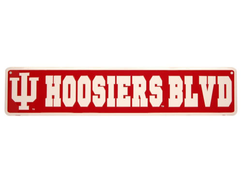 Indiana Hoosiers Team Street Sign