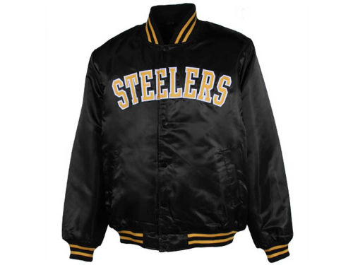 Pittsburgh Steelers GIII NFL Satin Vintage Varsity Jacket