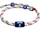New York Yankees Derek Jeter Game Wear Frozen Rope Necklace Jewelry