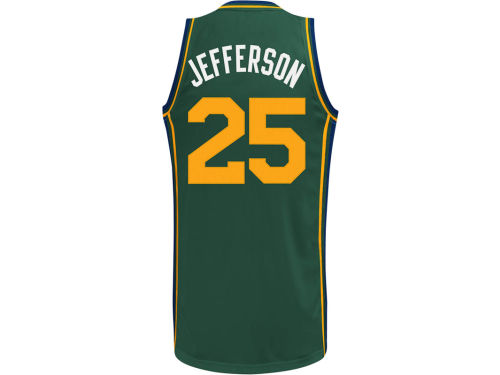 Utah Jazz Al Jefferson adidas NBA Revolution 30 Swingman Jersey