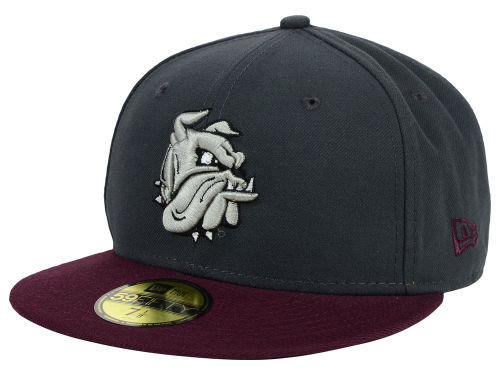 Minnesota Duluth Bulldogs New Era NCAA 2 Tone Graphite and Team Color 59FIFTY Cap Hats