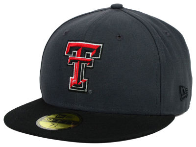 Texas Tech Red Raiders NCAA 2 Tone Graphite and Team Color 59FIFTY Cap Hats