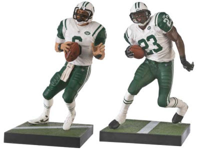 Jets Mark Sanchez and Shonn Greene McFarlane Collectibles