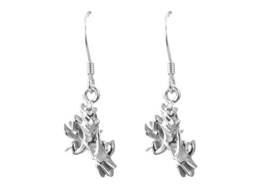 Arizona State Sun Devils Silver Dangle Earrings