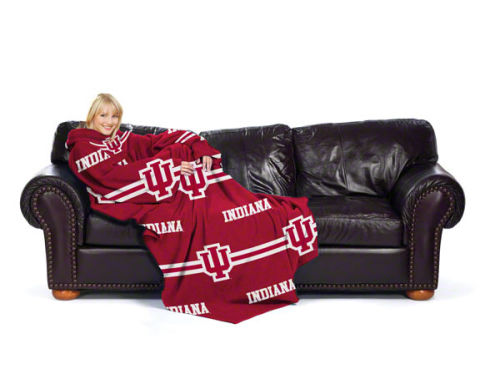 Indiana Hoosiers Comfy Throw Blanket