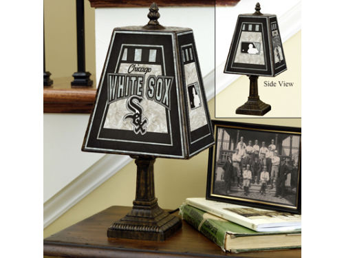 Chicago White Sox Art Glass Table Lamp
