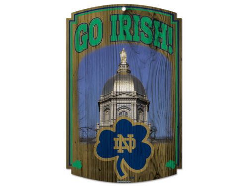 Notre Dame Fighting Irish Wincraft 11x17 Wood Sign
