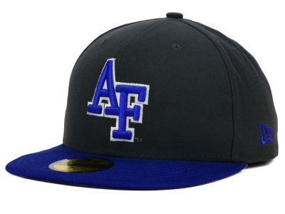 Air Force Falcons NCAA 2 Tone Graphite and Team Color 59FIFTY Cap Hats