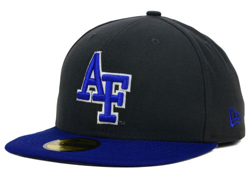 Air Force Falcons New Era NCAA 2 Tone Graphite and Team Color 59FIFTY Cap Hats